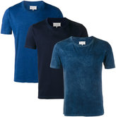Maison Margiela pack of three tie-dye T-shirt - men - Cotton - S