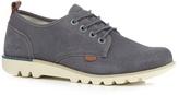 Kickers Grey 'losuma' Lace Up Shoes