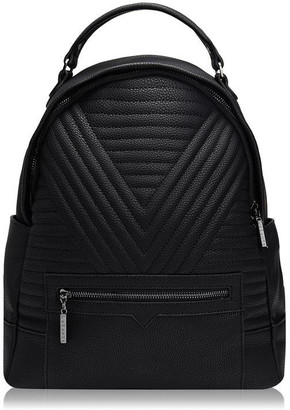 LaBante Camberwell Vegan Brown Quilted Backpack
