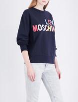 Love Moschino Logo-embossed stretch-jersey sweatshirt