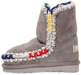 Mou Eskimo Colorful Stitches Shearling Boots