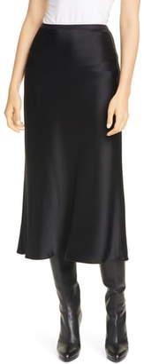 Polo Ralph Lauren Amla Bias Cut Satin Midi Skirt