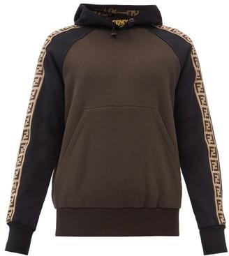 Fendi Ff-jacquard Jersey Hooded Sweatshirt - Black