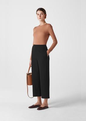 Contrast Stitch Wide Trouser