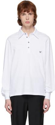 Davi Paris White Jersey Long Sleeve Polo