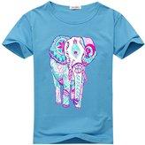 DIYgarment Elephant 1 Design Women's Short Sleeve Custom T-shirt