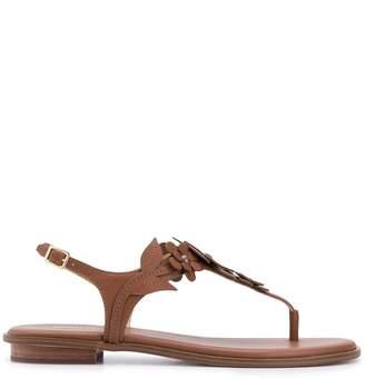 MICHAEL Michael Kors Floral Detailed Flat Sandals