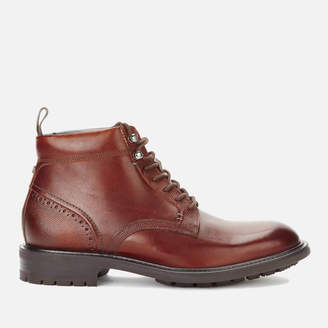 Ted Baker Men's Wottsn Leather Lace Up Boots - Tan - UK 7 - Tan