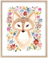 Pottery Barn Kids Sweet Floral Fox Wall Art by Minted(R) 8x10