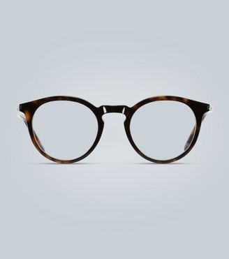 Saint Laurent Round acetate tortoiseshell glasses