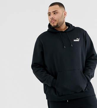 Puma Plus Essentials hoodie with small logo in black