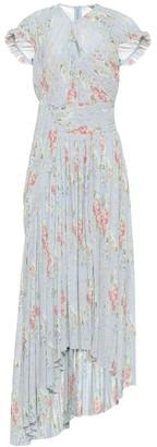 Preen by Thornton Bregazzi Julia pleated floral georgette dress