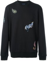Lanvin embroidered patch sweatshirt - men - Cotton/Polyester - S