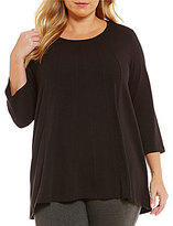 Westbound Plus 3/4 Sleeve Seamed Tunic
