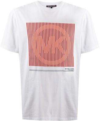 Michael Kors logo-print are neck T-Shirt