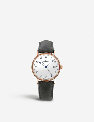 Breguet 5178BR/29/9V6/D000 Classique 5178 18ct rose-gold and leather watch