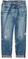Ralph Lauren Paint-Splattered Skinny Jean
