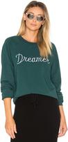 Spiritual Gangster Dreamer Embroidery Muse Slouchy Raglan Sweatshirt