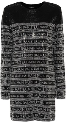 Balmain Crystal-embellished minidress