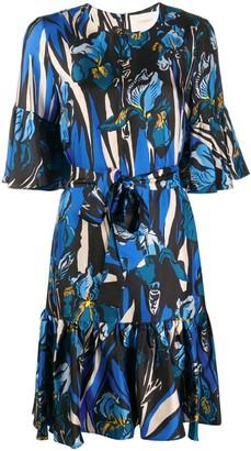 La DoubleJ Curly Swing silk mini dress