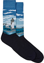 Corgi Men's Lighthouse Cotton-Nylon Socks