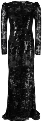 Giuseppe di Morabito Floral-Embellished Fitted Dress