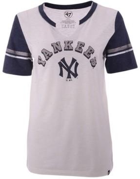 '47 Women's New York Yankees Coop Match Notch T-Shirt