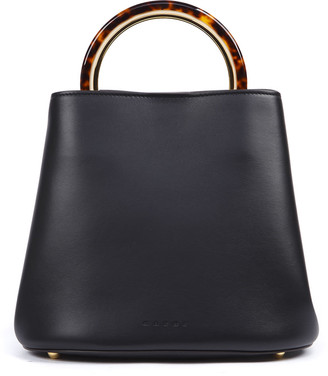Marni Black Leather Pannier Bag