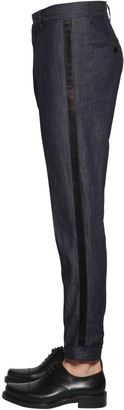 DSQUARED2 15.5cm Berlin Light Denim Tuxedo Pants