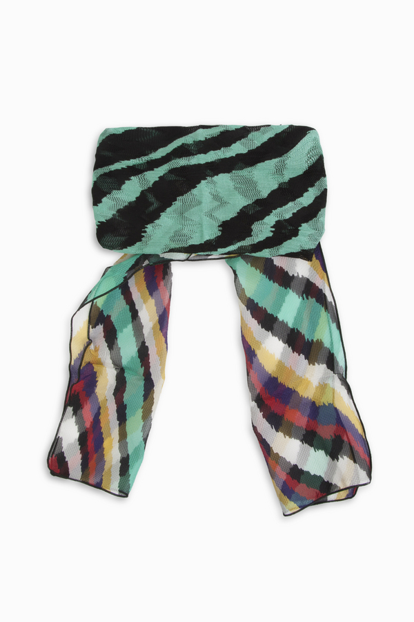 Missoni Multi Zebra Wrap Hairband