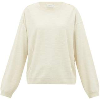 Lemaire Button-front Wool-blend Sweater - Womens - Cream