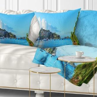 "East Urban Home Seashore St John Bay Panoramic View Pillow Size: 16"" x 16"", Product Type: Throw Pillow"