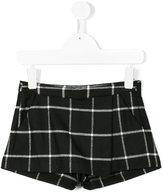 Il Gufo checked shorts - kids - Elastodiene/Polyester/Viscose - 2 yrs