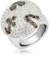 Ileana Creations Azhar Black and White Fashion Ring