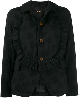 Comme des Garçons Comme des Garçons Floral Jacquard Single-Breasted Jacket