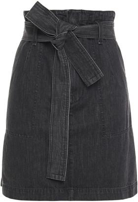 Rag & Bone Belted Denim Mini Skirt