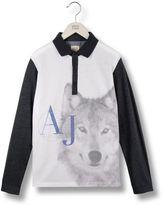 Armani Junior Long-sleeved polo shirt