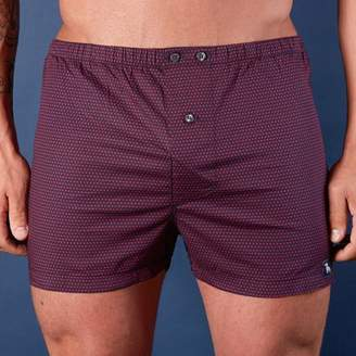 Blade + Blue Navy with Red X Print Boxer Short - Xavier