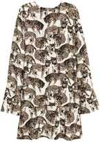 H&M Patterned Dress - Natural white/cats - Ladies