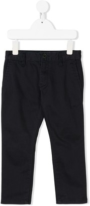 Emporio Armani Kids Straight-Leg Chino Trousers