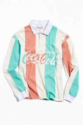Urban Outfitters Coca-Cola Long Sleeve Rugby Shirt