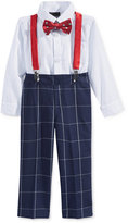 Nautica 4-Pc. Bow Tie, Suspenders, Shirt Bodysuit & Pants Set, Baby Boys (0-24 months)