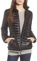 Andrew Marc Women's Stripe Trim Packable Down Jacket