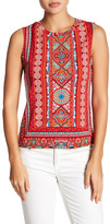 Angie Soft Knit Printed Muscle Tank