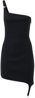Coperni Asymmetrical Cotton Blend Ribbed Dress
