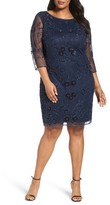 Pisarro Nights Plus Size Women's Embroidered Cocktail Dress