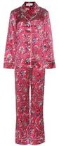 Olivia von Halle Lila Yasmine printed silk pyjamas