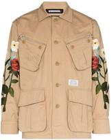 Neighborhood Floral-Embroidered Shirt Jacket