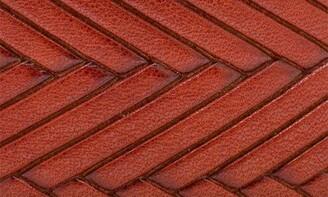 Bosca Vesuvio Braid Embossed Leather Belt