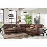 Maddie 6-Piece Top Grain Leather Power-Reclining Modular Sectional